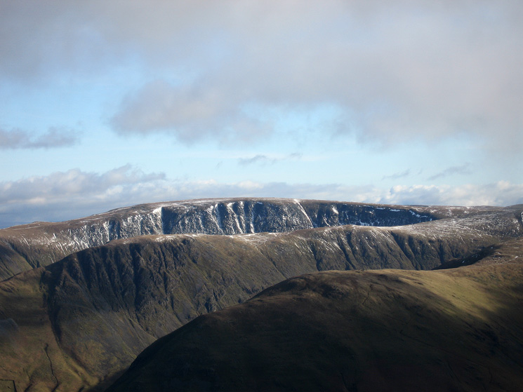 Zooming in on Hartsop Dodd, Gray Crag and High Street