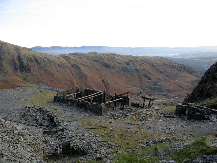 Old mine workings on the route up Coniston Old Man via Low Water from the Walna Scar Road