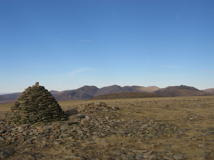 The Scafells again, this time from Brim Fell's summit
