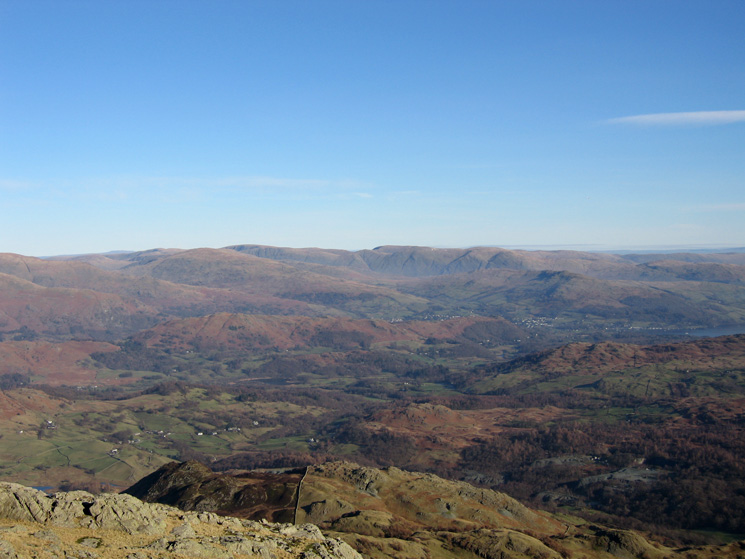 The view east from Wetherlam's summit