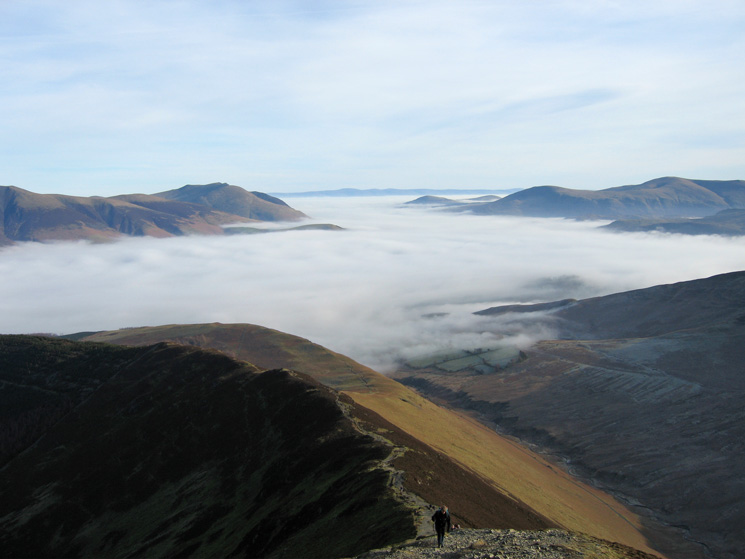 Ascending to Grisedale Pike's summit from Sleet How