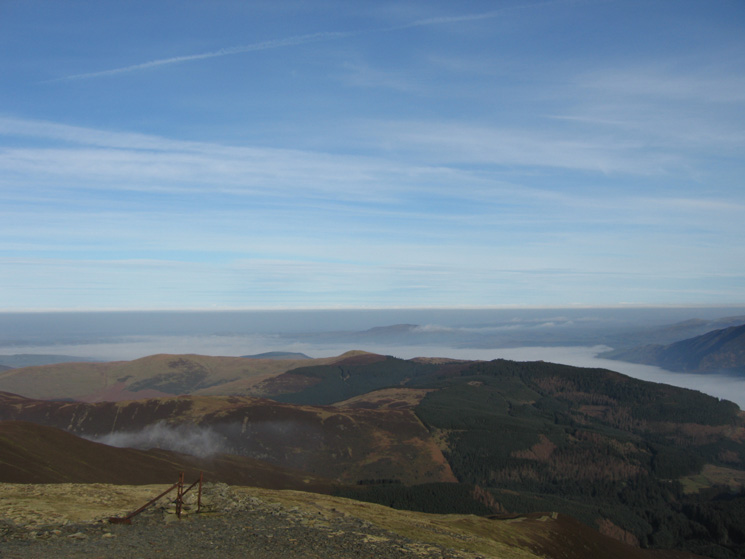 Lord's Seat and Whinlatter Forest with Binsey in the distance from Grisedale Pike's summit