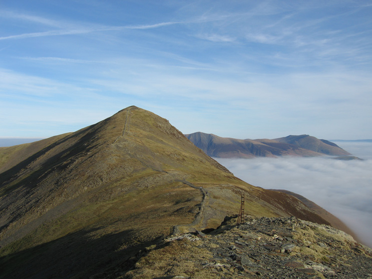 Looking back to Grisedale Pike's summit from its south west top