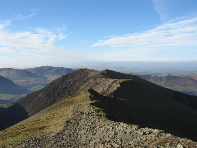 The ridge to Whiteside from Hopegill Head