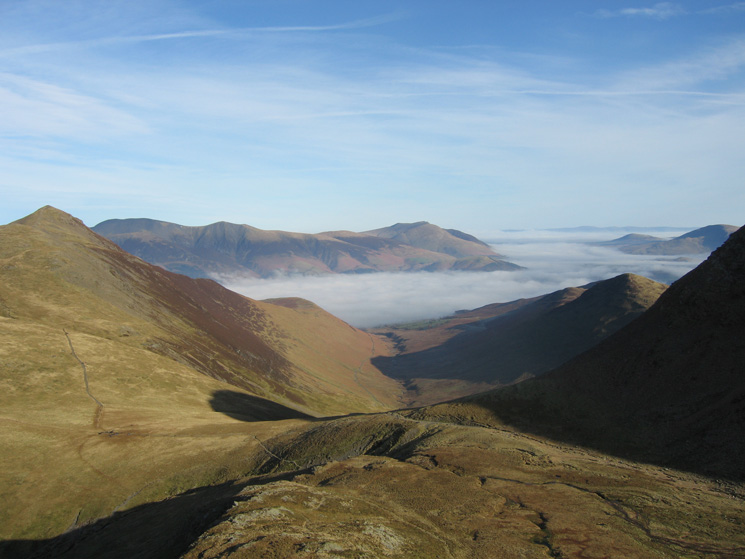 Coledale from our ascent of Grasmoor from Coledale Hause