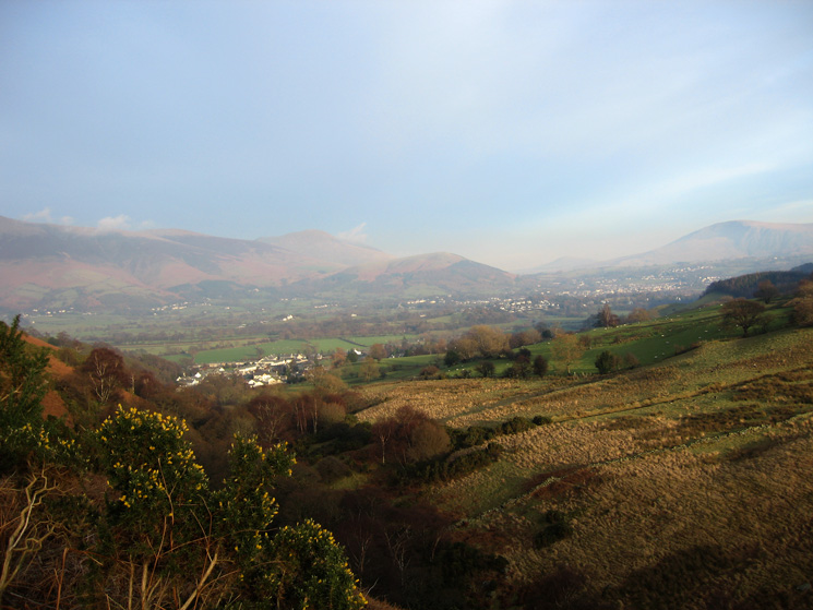 Braithwaite and Keswick from the Coledale track