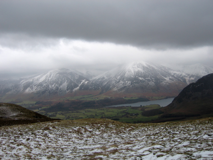 Whiteside, Grasmoor and the foot of Crummock Water