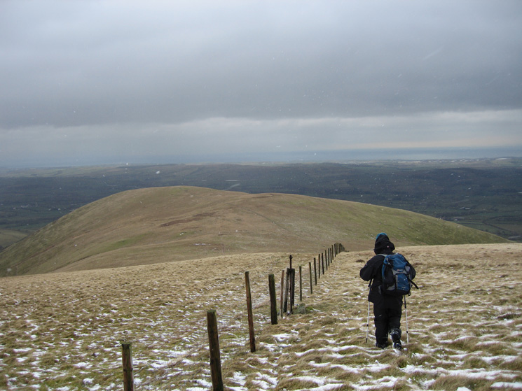 Leaving Burnbank Fell's summit, heading for Owsen Fell