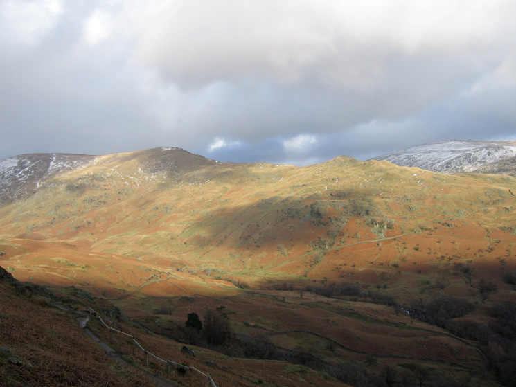 High Pike and Low Pike with some snow on Red Screes (right)