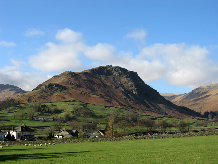 Helm Crag from behind the Swan Hotel