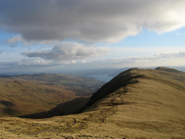 The ridge to Erne Crag and Heron Pike