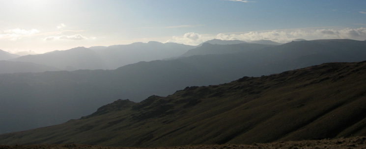 Stone Arthur with the Langdale Fells beyond