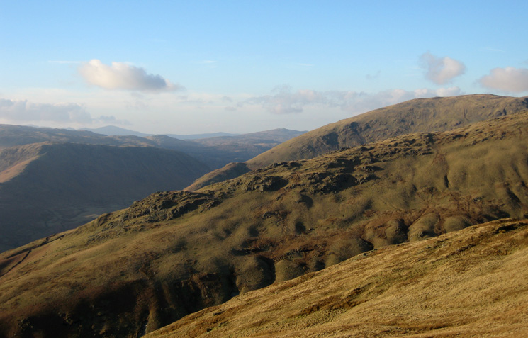Looking across Greenhead Gill to Stone Arthur with Seat Sandal  behind