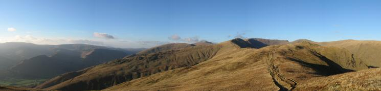 North westerly panorama from our ascent of Heron Pike