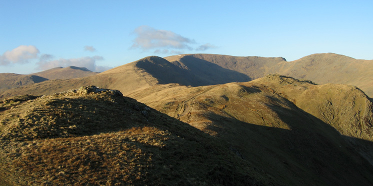Looking north to Fairfield from Heron Pike's summit