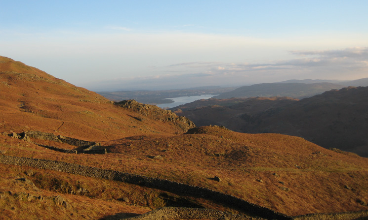Looking south to Windermere from near Alcock Tarn