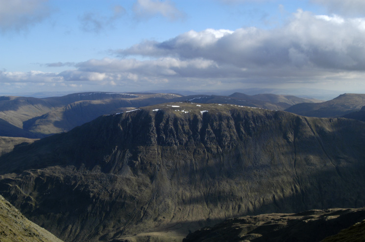 Saint Sunday Crag from Helvellyn's summit