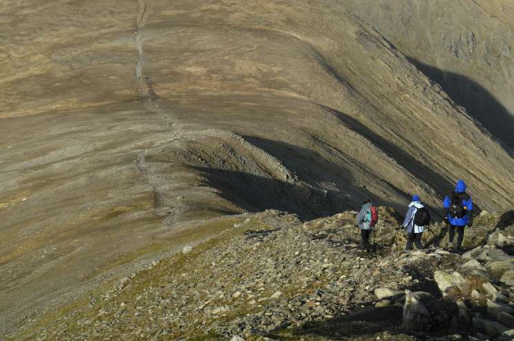 Descending Helvellyn Lower Man's north ridge