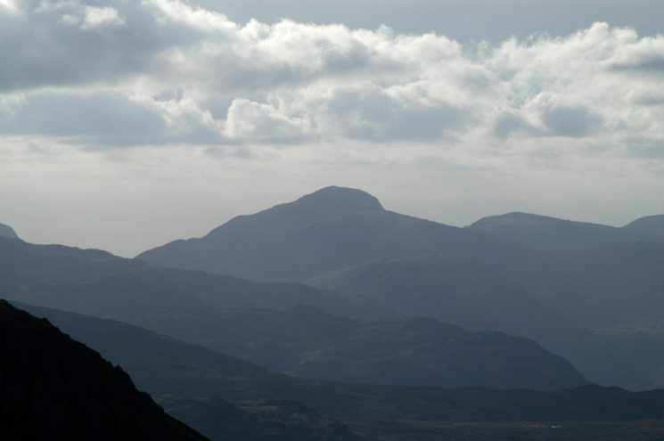 Zooming in on Great Gable to the west