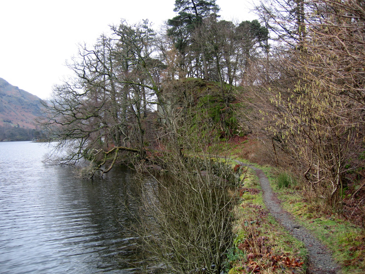 Part of the Ullswater lakeside path to Glenridding