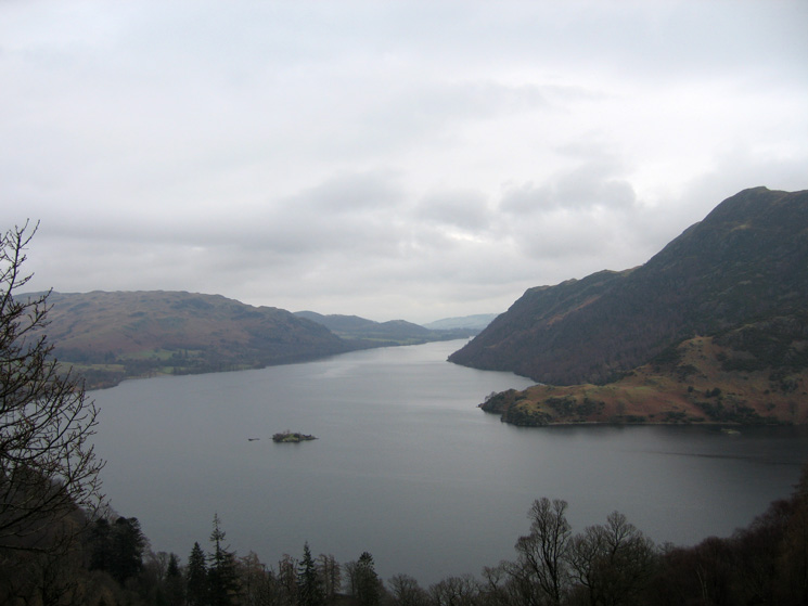 Norfolk Island, Ullswater with Silver Point on the far side of the lake