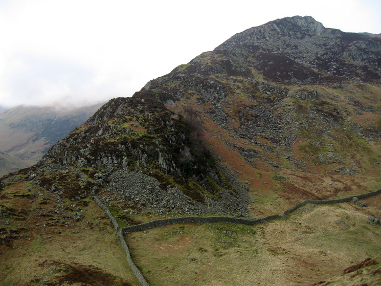 The ridge to Heron Pike, our line of ascent