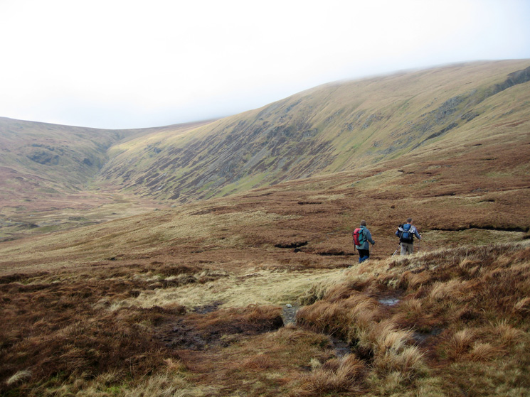 At Nick Head with Sticks Gill leading to Sticks Pass on the left