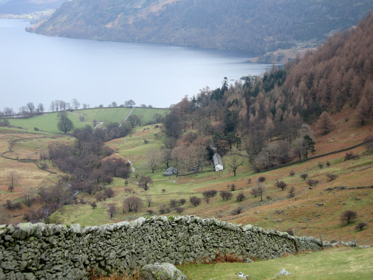 Looking down on the old miners cottages of Seldom Seen