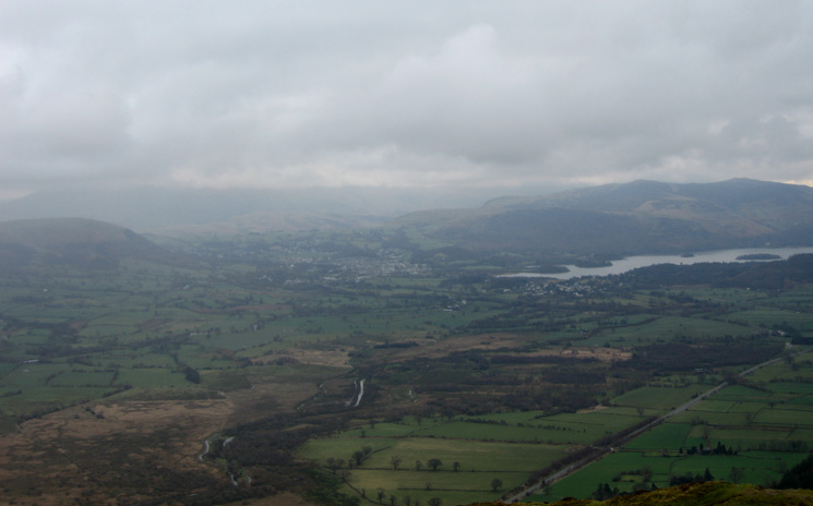 The Vale of Keswick from Whinlatter Forest