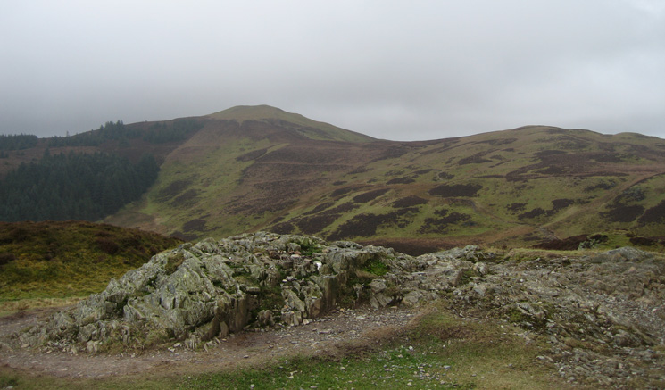 Lord's Seat (out of cloud at this point) from Barf's summit
