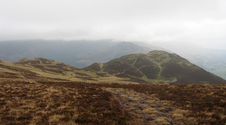 Looking back to Barf from the path to Lord's Seat