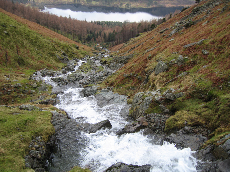 Looking back down on Thirlmere from Whelpside Gill