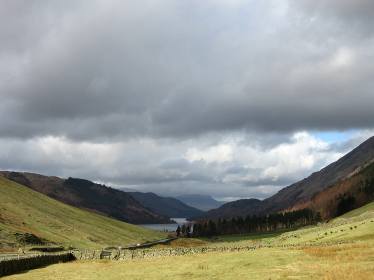 The view north to Thirlmere from the permissive path to Wythburn from Dunmail Raise