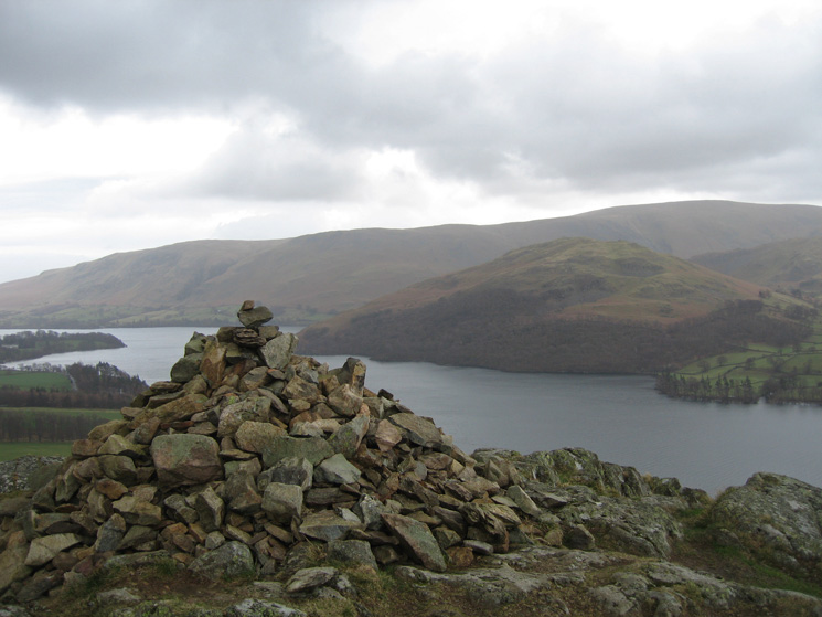 Hallin Fell and the north end of the High Street Ridge from the cairn above Yew  Crag