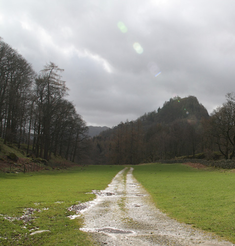 Castle Crag from Hollows Farm campsite