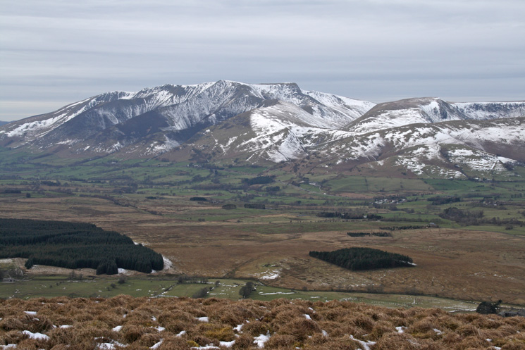 Blencathra from Great Mell Fell's summit