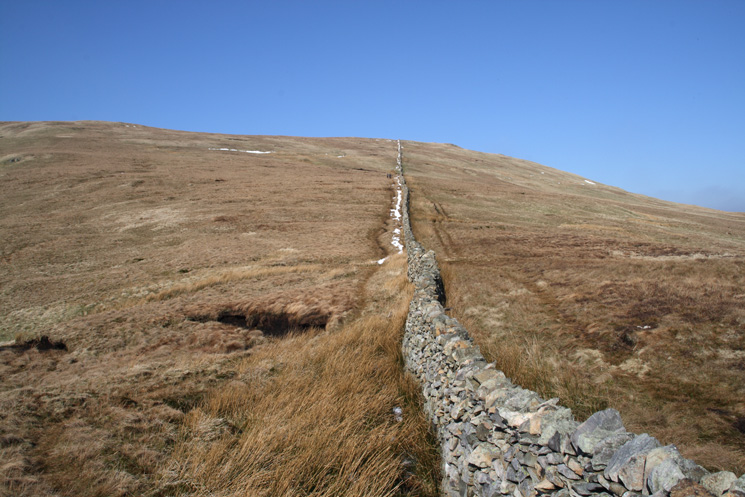 Another wall to follow, this one takes you to the summit of Birkett Fell