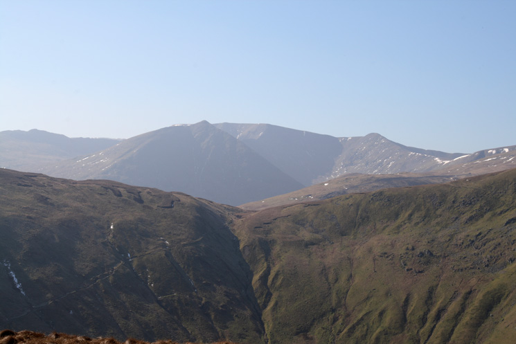 Looking across Glencoyne and over Nick Head to Catstycam and Helvellyn