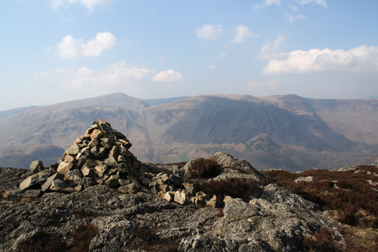 Dale Head and High Spy from Great Crag's summit cairn