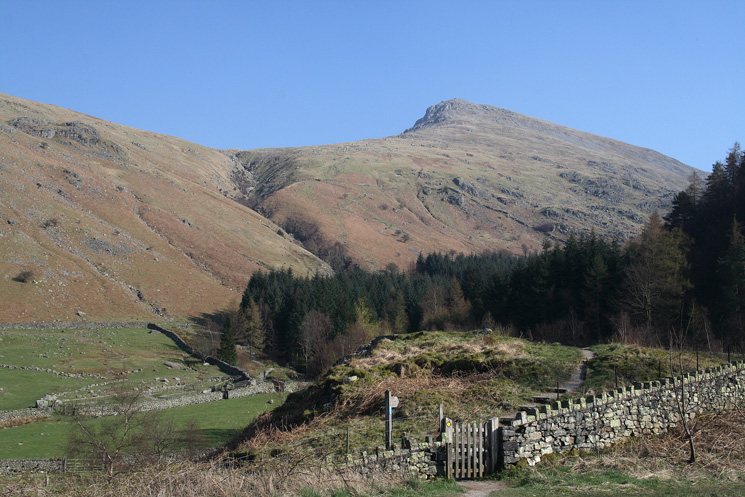 Helvellyn Gill and Browncove Crags from Swirls