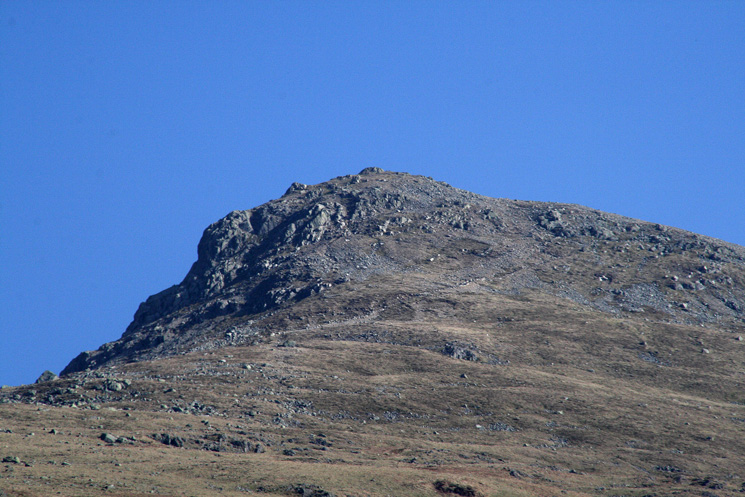 Zooming in on Browncove Crags and the top part of the path (diagonal line, centre of photo)