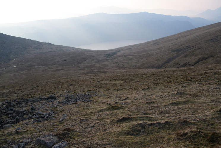 My descent route from the col between Helvellyn Lower Man and White Side