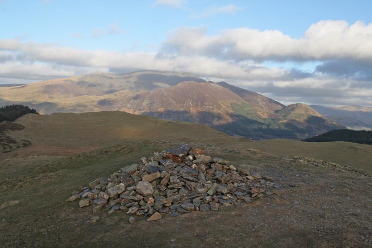 The Skiddaw fells from Sale Fell's summit