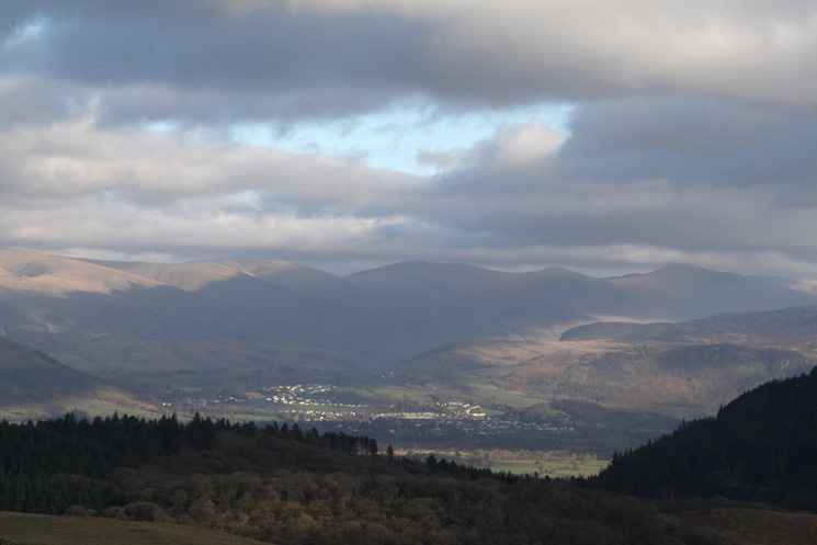 Keswick with the Helvellyn ridge behind