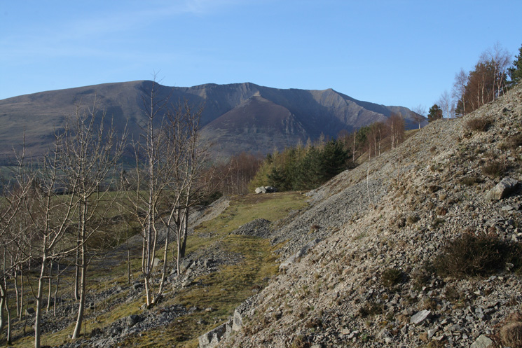 Blencathra from Hilltop Quarries (disused)