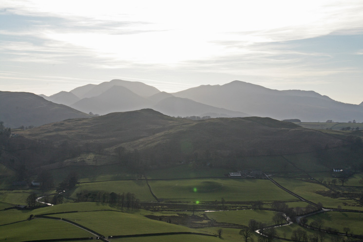 Looking over Low Rigg to the north western fells