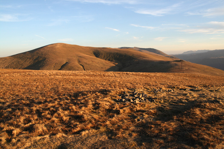 Great Dodd from Clough Head with Calfhow Pike on the right