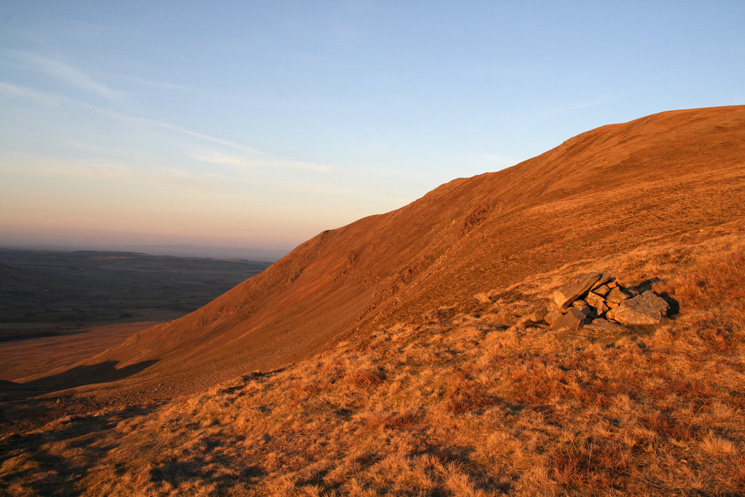 Evening light on Red Screes