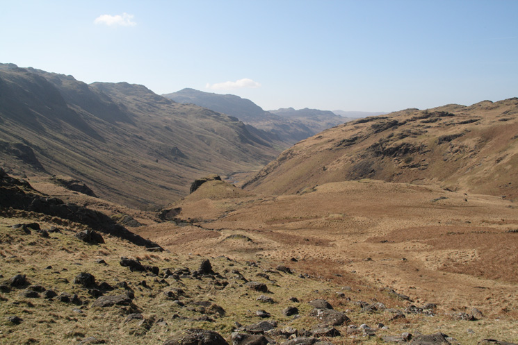Looking back down our route from near Throstlehow Crag
