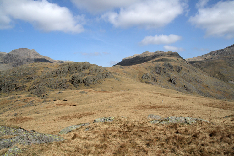 Esk Pike's south ridge from Low Gait Crags